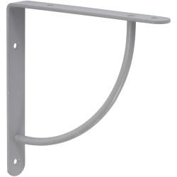 Equerre Bi bop acier epoxy gris, H.18 x P.18 cm de marque Centrale Brico, référence: B6558700