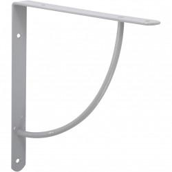 Equerre Bi bop acier epoxy gris, H.23 x P.23 cm de marque Centrale Brico, référence: B6558800