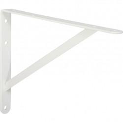 Equerre Dolmen acier epoxy blanc, H.26.8 x P.40 cm de marque Centrale Brico, référence: B6559400