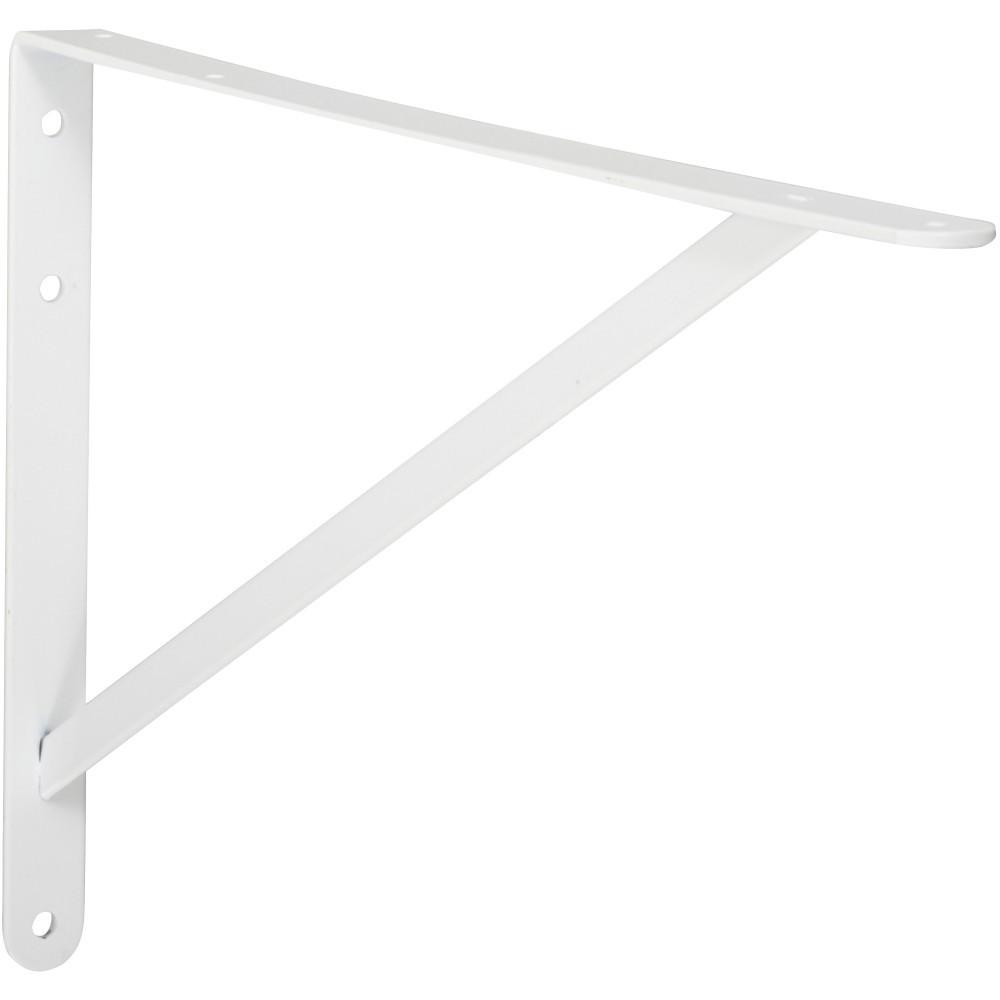 Equerre Dolmen acier epoxy blanc, H.32.3 x P.50 cm