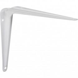 Equerre Emboutie acier epoxy blanc, H.12.5 x P.15 cm de marque Centrale Brico, référence: B6560300