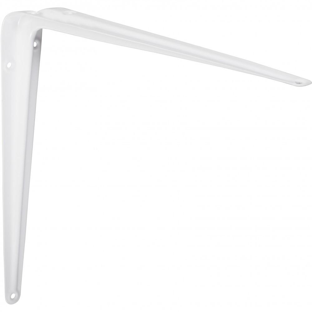 Equerre Emboutie acier epoxy blanc, H.35 x P.40 cm