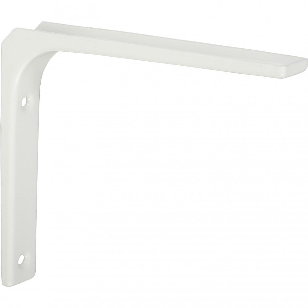 Equerre Moderne acier epoxy blanc, H.10 x P.10 cm