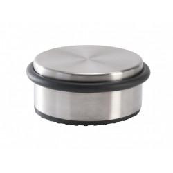 Bloque-porte amovible inox brossé gris Diam.10 cm x H.4.3 cm de marque Centrale Brico, référence: B6567000