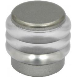 Lot de 2 butées de porte pvc peint gris Diam.2.9 cm x H.2.5 cm de marque Centrale Brico, référence: B6567100