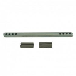 Carré et fourreaux acier zingué, L.11 x l.0.6 de marque Centrale Brico, référence: B6568000