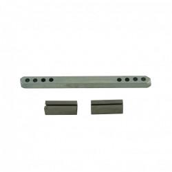 Carré et fourreaux acier zingué, L.9 x l.0.7 de marque Centrale Brico, référence: B6568100