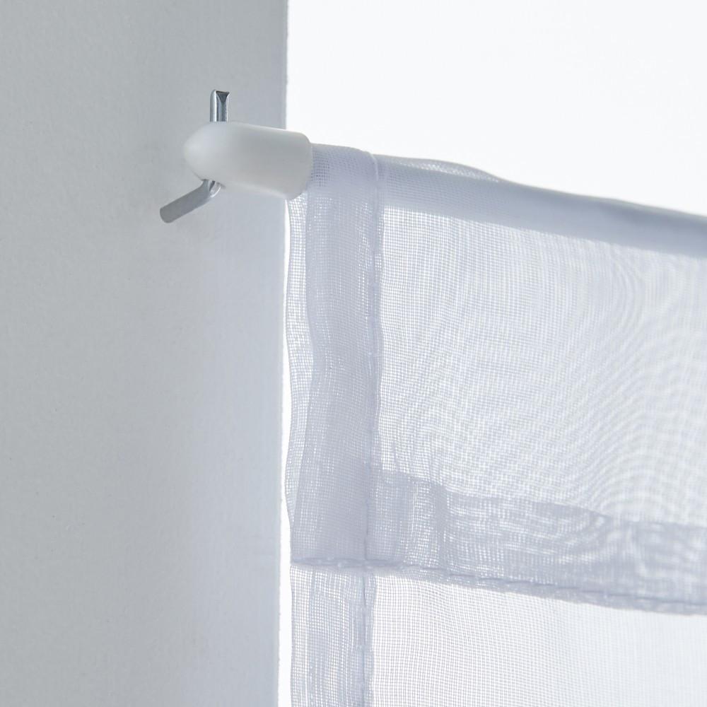 2 barres Rondes Diam. 7 mm blanc brillant 80/110 cm acier