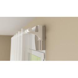 Lot de 2 supports sans perçage pour barre à rideau caisson volet,20/28 mm blanc laqué de marque Centrale Brico, référence: B6573600