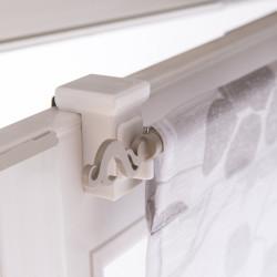 Lot de 2 supports sans perçage barre de vitrage fenêtre standard, 10mm blanc de marque Centrale Brico, référence: B6573700
