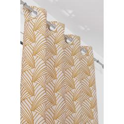 Rideau tamisant, Ardeco moutarde l.135 x H.250 cm LINDER de marque Centrale Brico, référence: B6577700