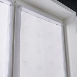 Vitrage tamisant, Kita blanc l.90 x H.210 cm de marque Centrale Brico, référence: B6582200