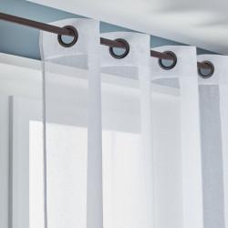 Voilage tamisant, Linette blanc l.145 x H.240 cm de marque Centrale Brico, référence: B6584600