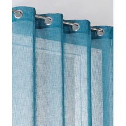 Voilage tamisant, Lium bleu baltique l.140 x H.240 cm de marque Centrale Brico, référence: B6585000