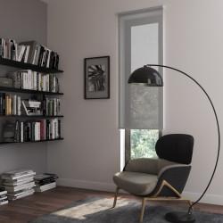 Store enrouleur tamisant, blanc/gris Screen uni, l.55 x H.190 cm de marque Centrale Brico, référence: B6587700