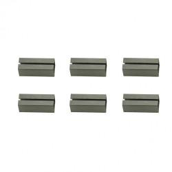 Lot de 6 fourreaux acier zingué, L.2 x l.0.7 de marque Centrale Brico, référence: B6589500