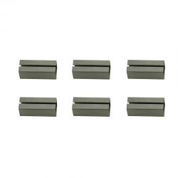 Lot de 6 fourreaux acier zingué, L.2 x l.0.8 de marque Centrale Brico, référence: B6589600
