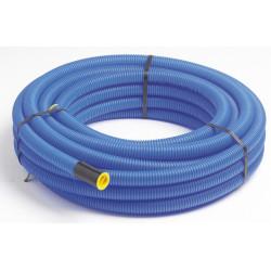 Gaine pour réseaux enterrés JANOFLEX bleu, Diam.40 mm, L.25 m de marque Centrale Brico, référence: B6647600