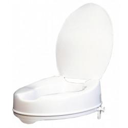 Rehausse WC avec couvercle à fixer, plastique de marque Centrale Brico, référence: B6657500