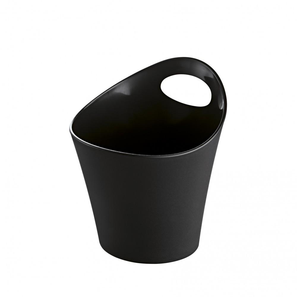 Pot range-couverts plastique bronze L.12 x H.13 cm