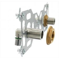 Kit fixation robinetterie douche ou bain à sertir laiton M 20 x 27 tube per de marque QUICK PLOMBERIE, référence: B6680800