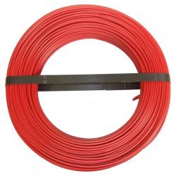 Fil électrique 1.5 mm² h07vu, en couronne de 100M rouge de marque Centrale Brico, référence: B6681600