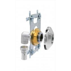 Kit fixation robinetterie douche/bain à sertir laiton D.16 pour tube multicouche de marque QUICK PLOMBERIE, référence: B6683600