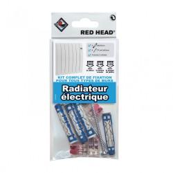 Kit de fixation pour radiateur avec borne de connexion de marque Centrale Brico, référence: B6691800