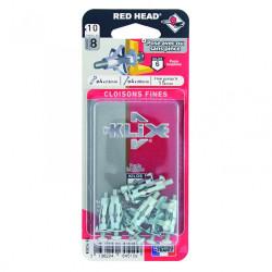 Lot de 10 chevilles et vis à expansion klix KXC410 RED HEAD, Diam.8 x L.23 mm de marque Red head, référence: B6704600