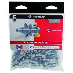 Lot de 25 chevilles et vis à expansion klix KXC5SA25 RED HEAD, Diam.8 x L.34 mm de marque Red head, référence: B6704700