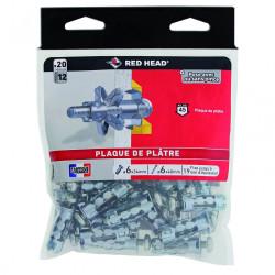 Lot de 20 chevilles et vis à expansion RED HEAD, Diam.8 x L.34 mm de marque Red head, référence: B6704900