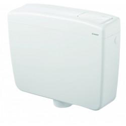 Réservoir semi-bas WC blanc SIAMP Sopra double touche de marque Siamp, référence: B6729900