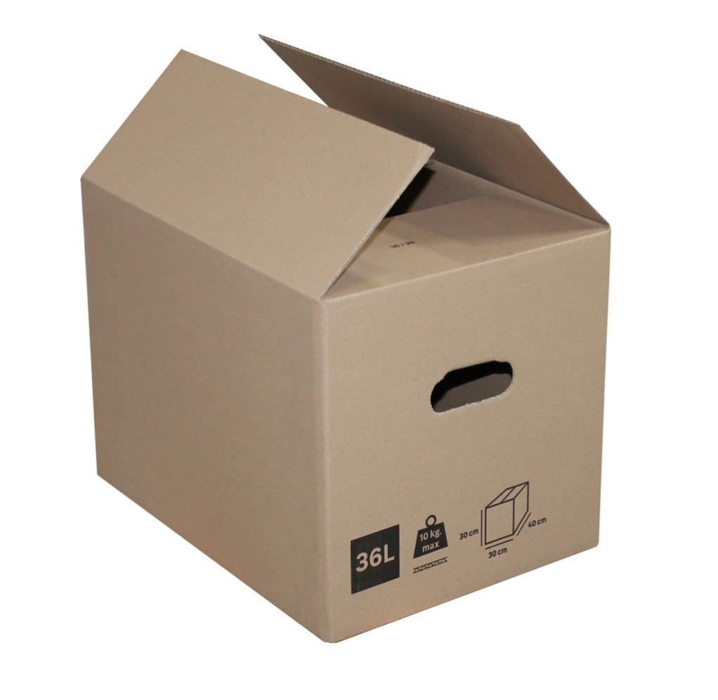 Carton 36 l, l.40 cm x H.30 cm x p.30 cm