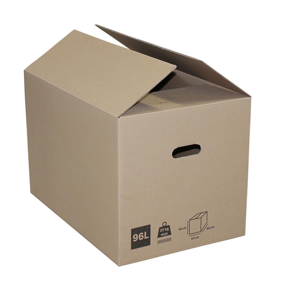 Carton 96 l, l.60 cm x H.40 cm x p.40 cm