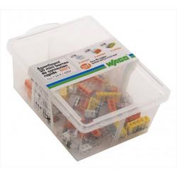 Assortiment de 50 minibornes automatiques, 2,5 mm² pour rigide WAGO de marque WAGO, référence: B6758000
