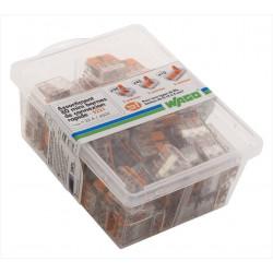 Assortiment de 80 bornes automatiques, 2,5 mm² pour rigide et souple WAGO de marque WAGO, référence: B6758100