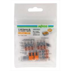 Lot de 4 bornes automatiques, 6 mm² pour rigide et souple WAGO de marque WAGO, référence: B6758700