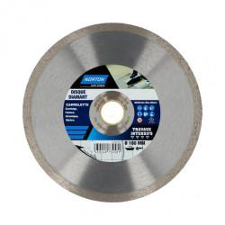 Disque diamant intensif plein pour carrelage NORTON, Diam.180 mm de marque NORTON, référence: B6767800