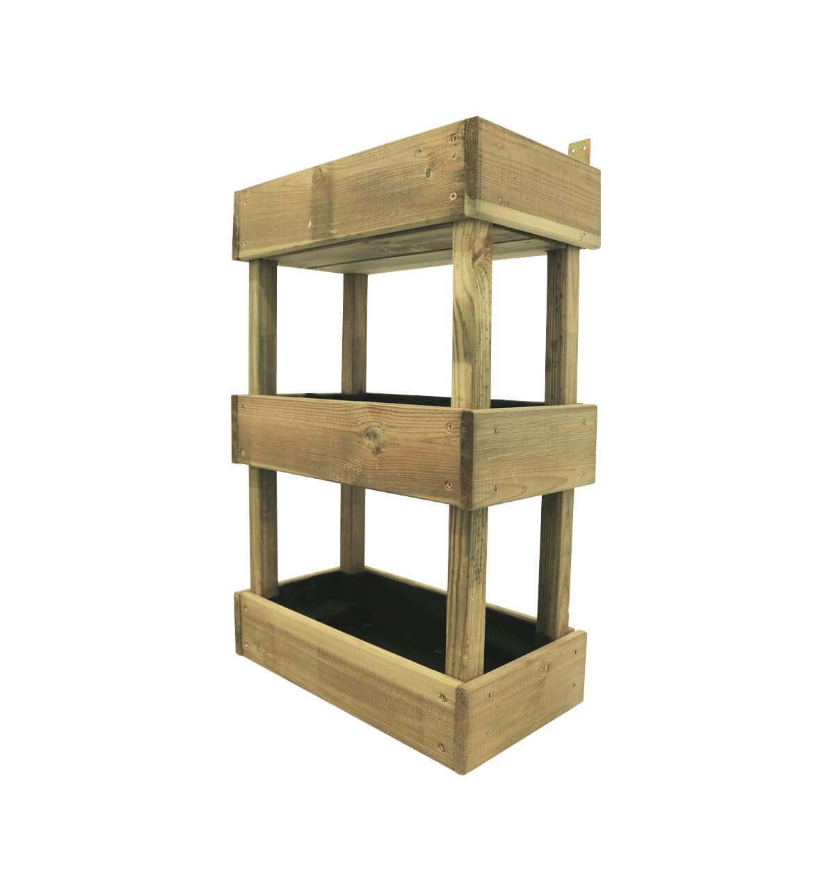 Bac à étages en pin - 40 x 21 x 60 cm