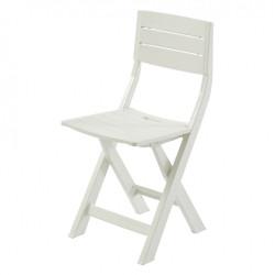 Chaise de jardin en résine injectée Gilda blanc de marque Centrale Brico, référence: J6605700