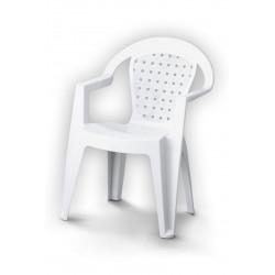 Fauteuil de jardin en résine injectée Norma blanc de marque Centrale Brico, référence: J6606500