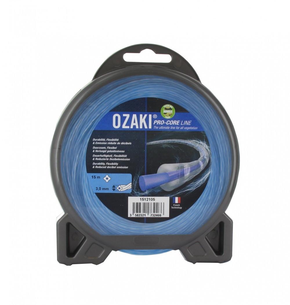 Coque fil nylon OZAKI PRO-CORE LINE. Co-extrudé Longueur: 15 m, Ø: 3,00mm