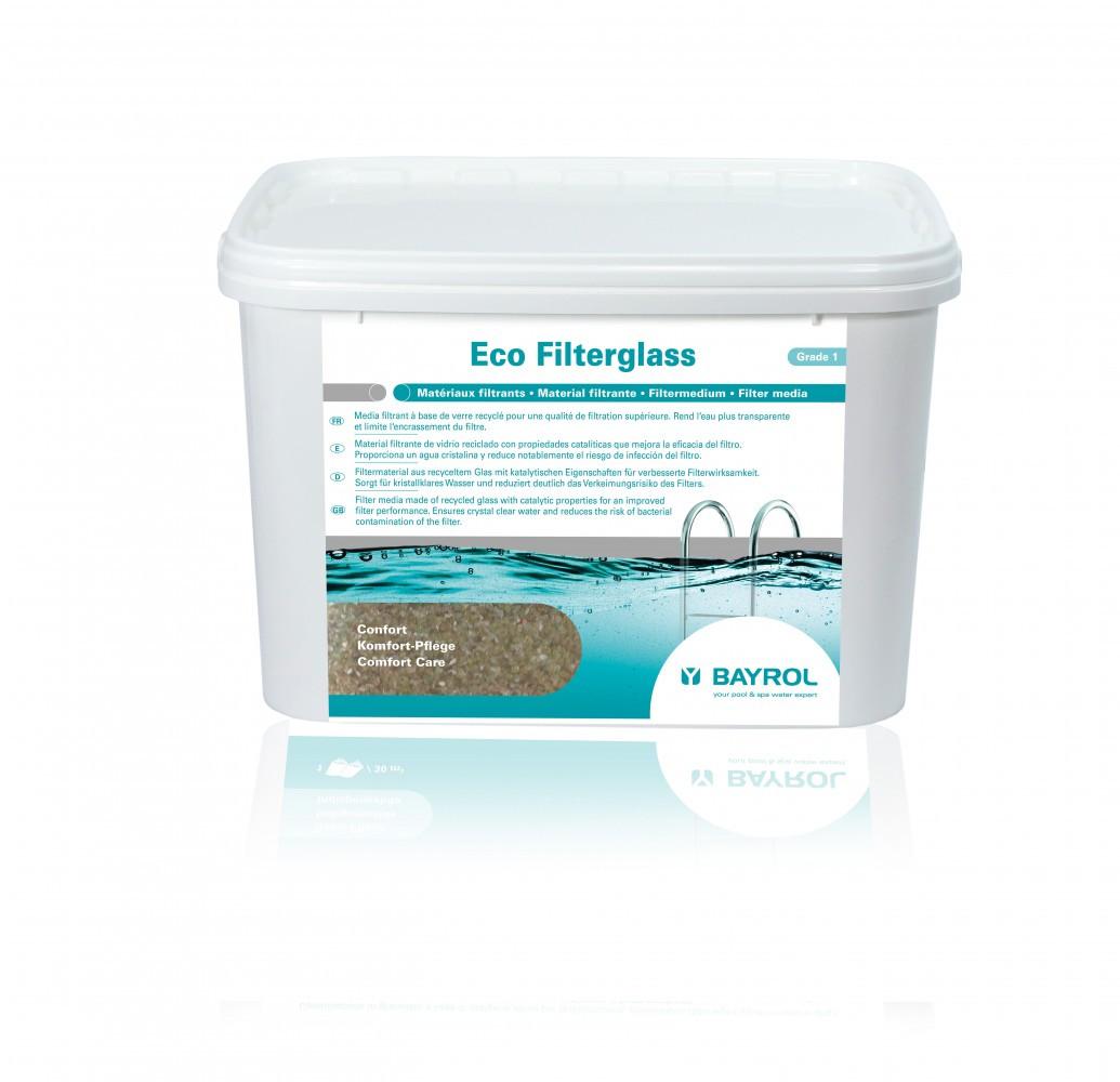 Média filtrant BAYROL Ecofilterglass, granulés de verre recyclé, 20 kg