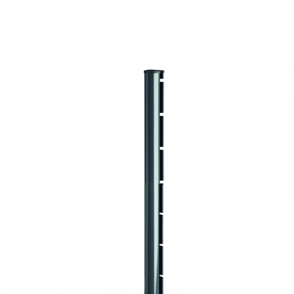 Poteau à encoche Axor gris, H.110 x P.6.8 cm