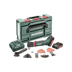 Outil multifonctions 18 V MT 18 LTX - 2 x 2,0 Ah Li-Power, ASC 55, coffret Metabox + accessoires de marque Metabo, référence: B6791300