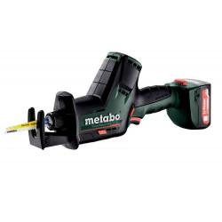 Scie sabre 12 V SSE 12 BL - 2 x 2,0 Ah Li-Power, SC30, coffret Metabox de marque Metabo, référence: B6794100