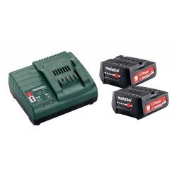 Pack énergie 12 V Pack 2 Batteries 12 Volts + chargeur - 2 x 2,0 Ah Li-Power, SC 30 de marque Metabo, référence: B6797900