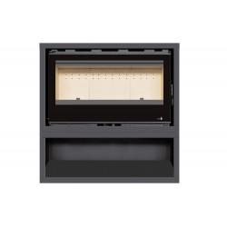 INSERT Poêle à bois avec support box Classic Vision SL-290VBOX - 14kW de marque TERMOFOC, référence: B5355100