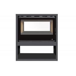 INSERT Poêle à bois avec support box Classic Vision SL-290VDFBOX double face - 13kW de marque TERMOFOC, référence: B5355400