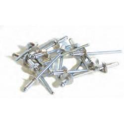 250 rivets alu / acier à tête large Ø 4,8 x 12 mm de marque TECHMAN, référence: B1186400